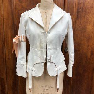 L.A.M.B. by Gwen Stefani Garter white blazer
